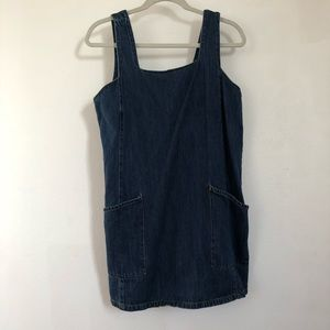 Life in Progress Denim Overalls Dress